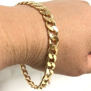 Other - 18k Gold Filled Cuban Link Bracelet 8.5""